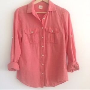 J. Crew The Perfect Shirt Button Down Top